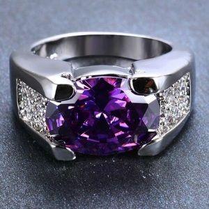 Size 9 Amethyst Ring WGF